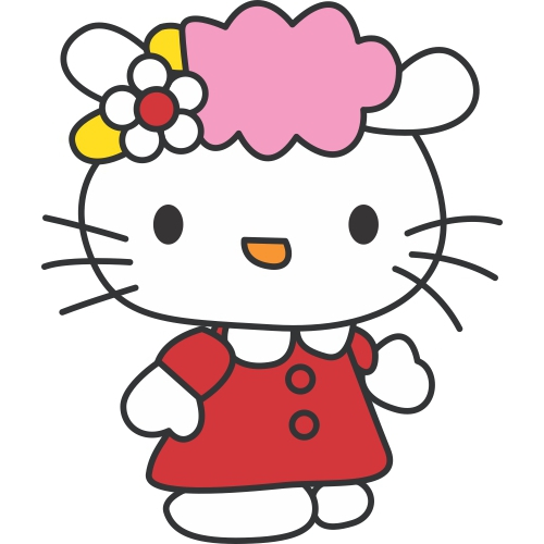 Hello Kitty DIY decals stickers version 13